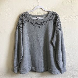American Eagle Embroidered Soft Crew Sweatshirt